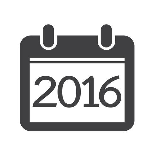 Calendario para 2016 vector