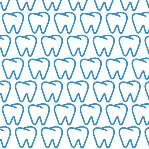 Tooth pattern background vector