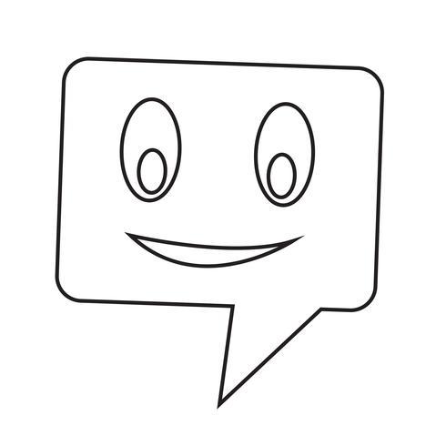 parlando icona a fumetto vettore
