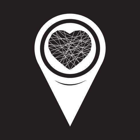 Mapear o ícone do ponteiro do coração