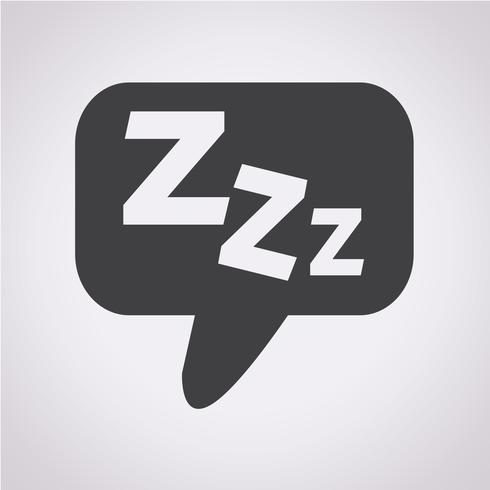 Slaap pictogram symbool teken