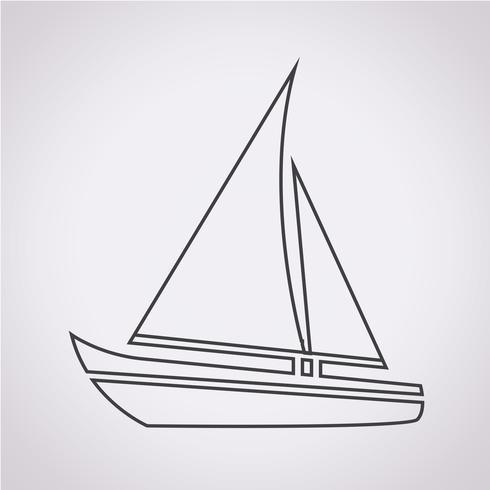 Icono de barco de vela