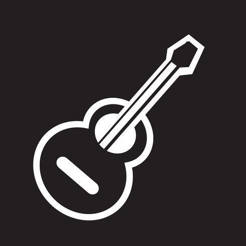 icona della chitarra acustica