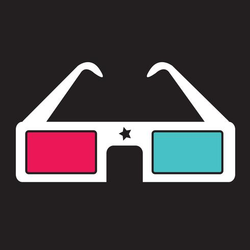 Gafas de cine 3D vector