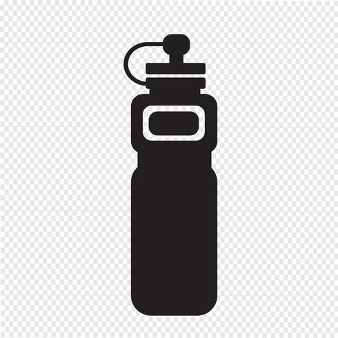 icono de botella de agua deporte vector