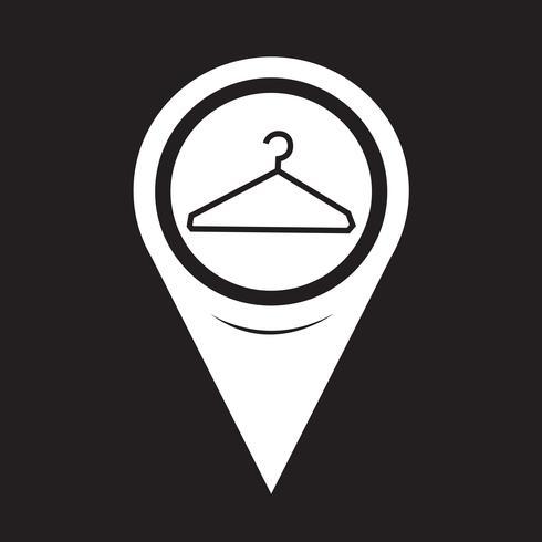 kartpekare klädhängare ikon