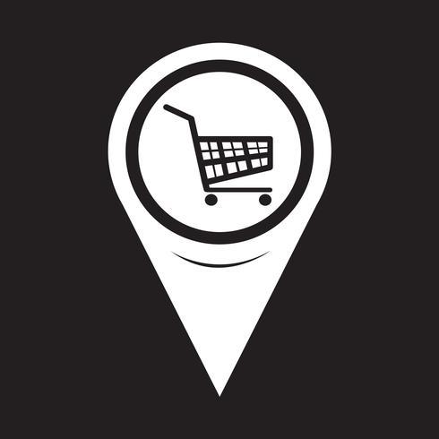 Kartenzeiger Einkaufswagen-Symbol