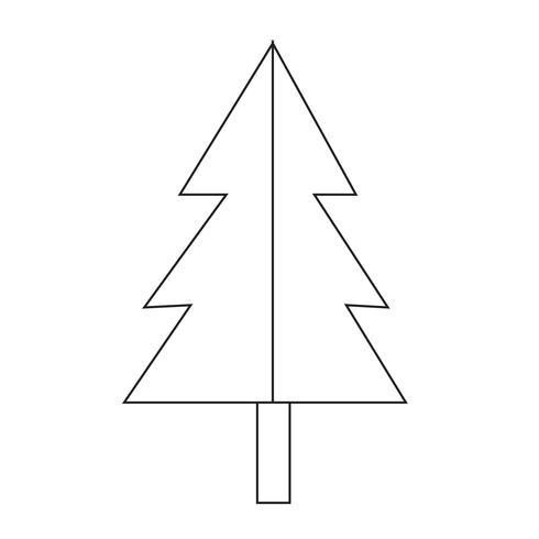 Icono de arbol de navidad vector