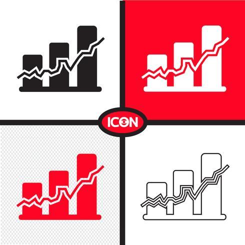 Icono de gráfico de gráfico vector