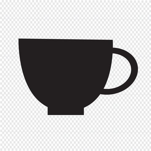 Icono de la taza símbolo de signo vector