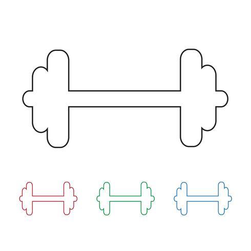 Icono de vector de mancuerna