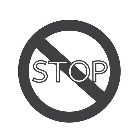 Icono de señal de stop vector