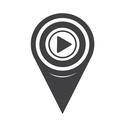 Icono de mapa de puntero vector