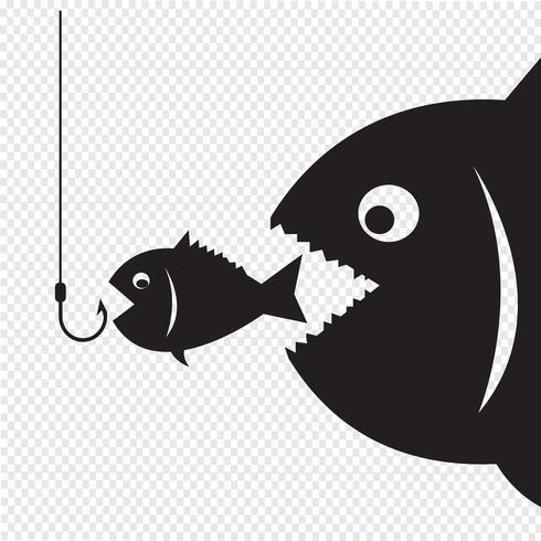Stor fisk äter liten fisk