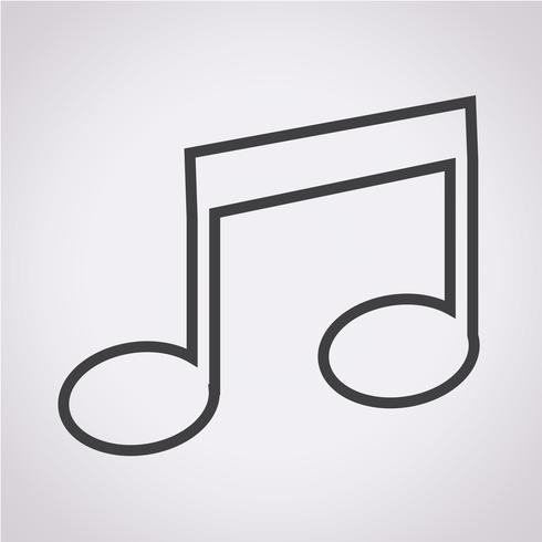 ikon för musiknotat