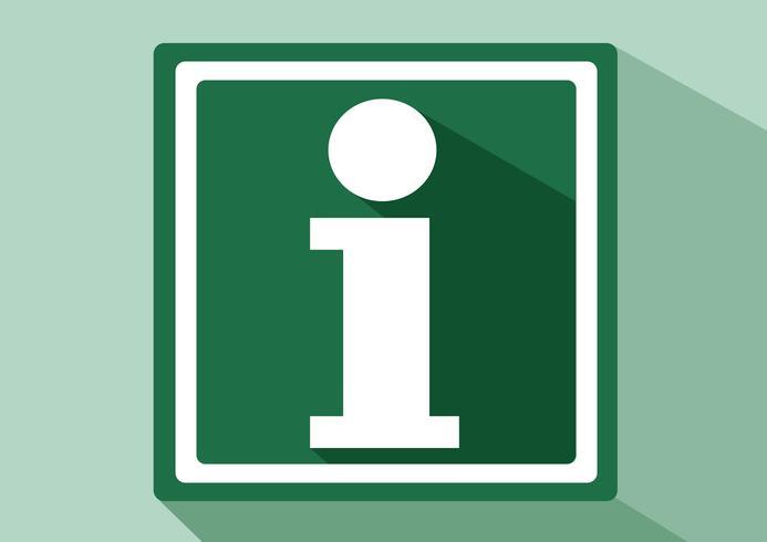 Ícone de sinal de informação