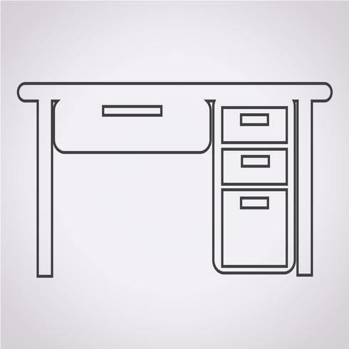Icono de mesa de la mesa vector