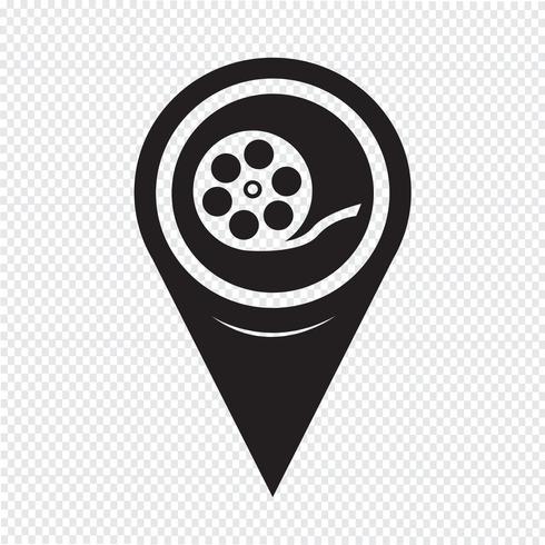 Carte Pointer Film Reel Icon