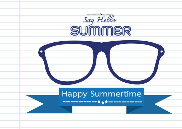 Tarjeta de diseño de idea de concepto de verano vector