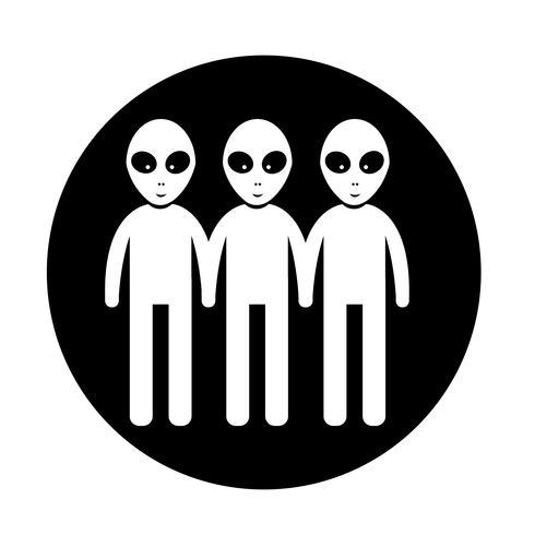 Alien Icon  symbol sign vector