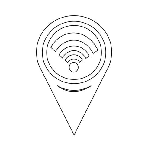 Kartpekare Wifi-ikon