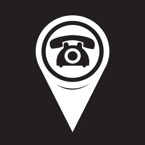 Kartenzeiger Altes Telefon-Symbol