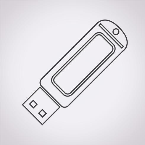 USB-flashstationpictogram