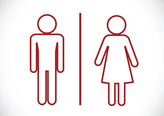 Toalettikonen och Pictogram Man Woman Sign