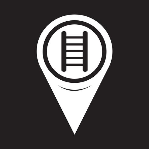 Map Pointer Ladder Icon vector