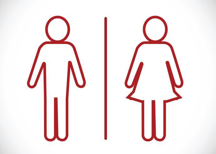 Toilettenikone und Piktogramm-Mann-Frauen-Zeichen