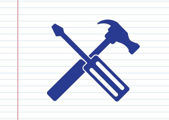 Verktyg och hammare-ikonen