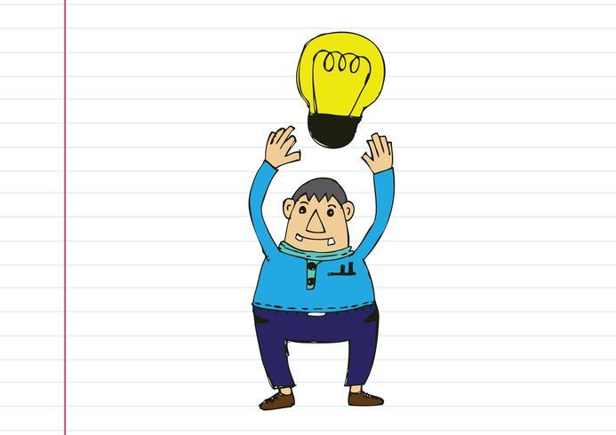 Denkstilillustration des Karikaturmannes