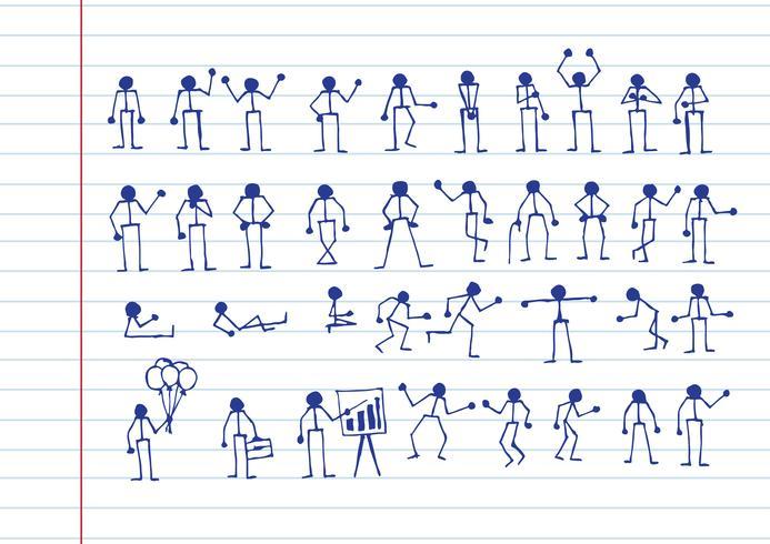 Gente acciones Signo Pictograma de símbolo vector