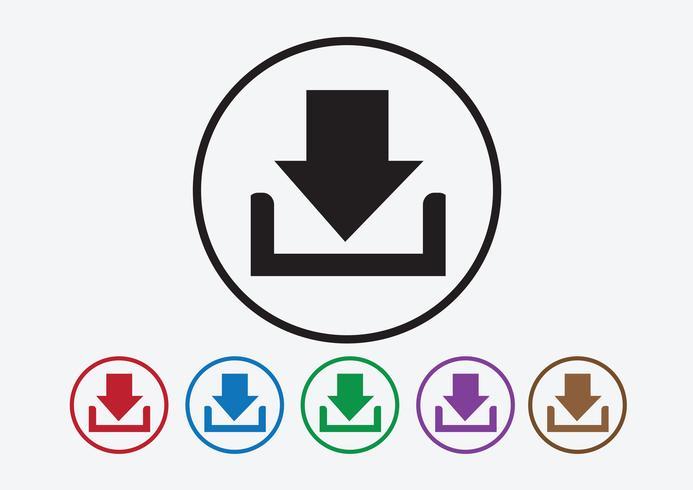 Icono de descarga y botón de símbolo de carga