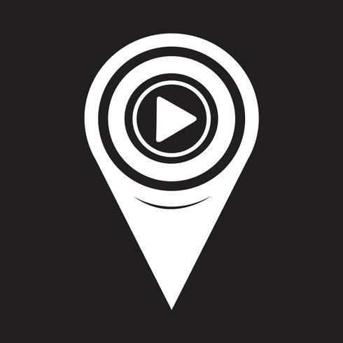 Icono de mapa de puntero