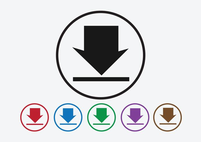 Download icon and Upload symbol button vector