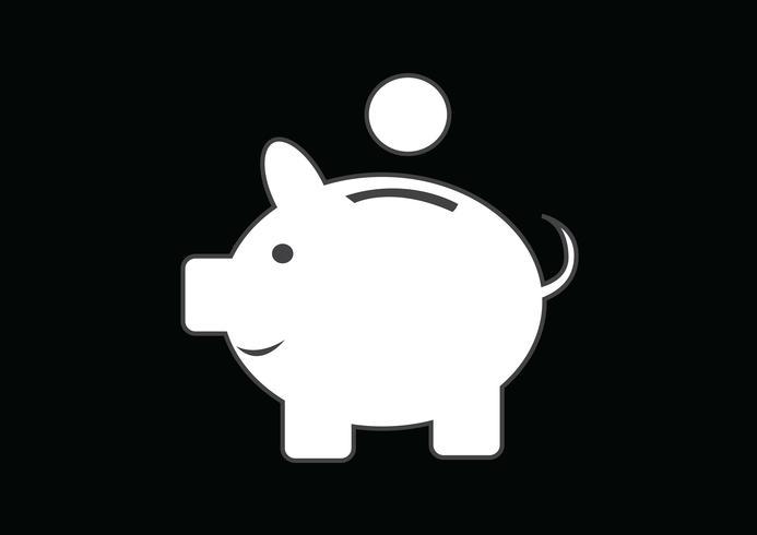 Piggy bank symbool teken