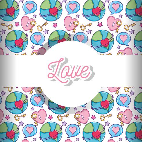 Amore e cuori pattern di sfondo