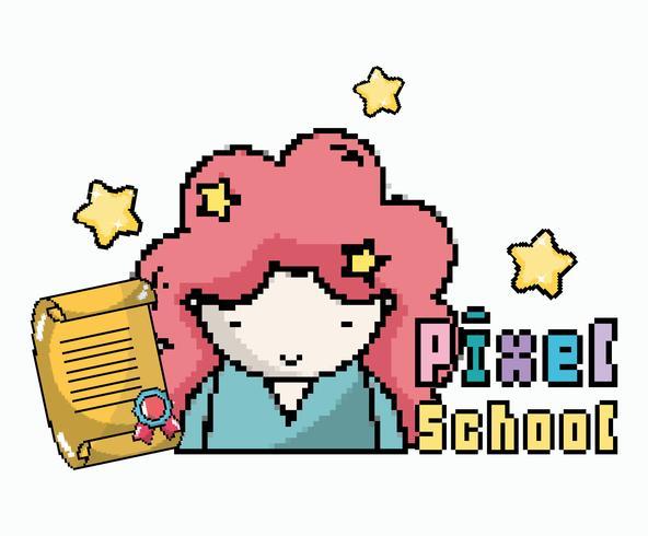 Pixel School Art vector