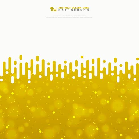 Abstract vector wavy stripe lines gold texture with glitters. illustration vector eps10