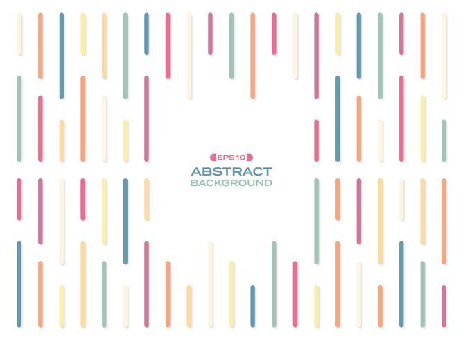 Abstrakt begrepp av den enkla färgglada regnbågens bandlinjer med skugga.