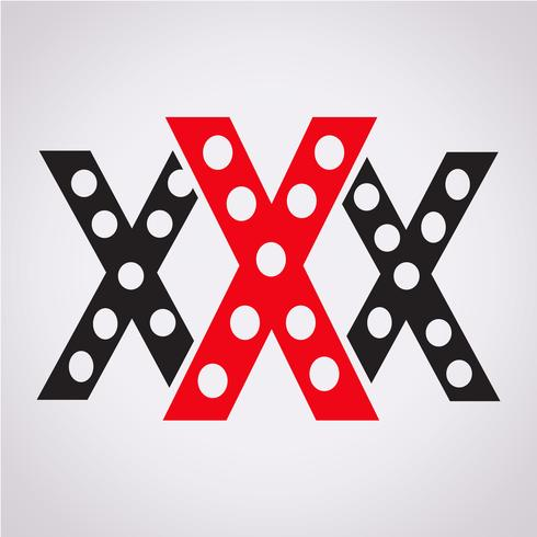 XXX  icon  symbol sign vector