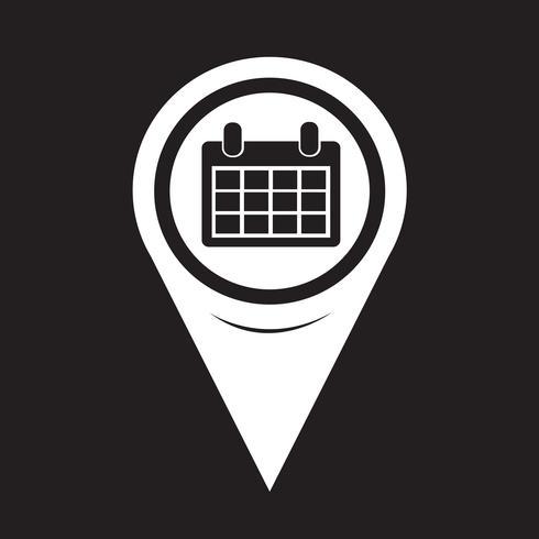 Puntero del mapa icono de calendario vector