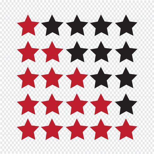 Estrelas de avaliação