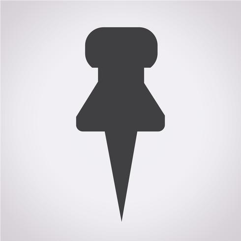 push pin icon vektor