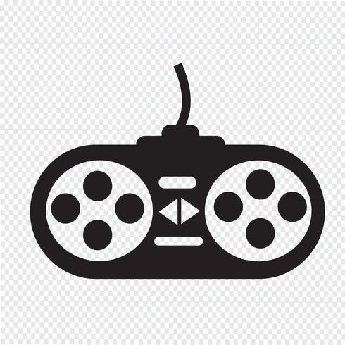 game controller icon  vector