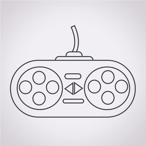 icono del controlador de juego vector
