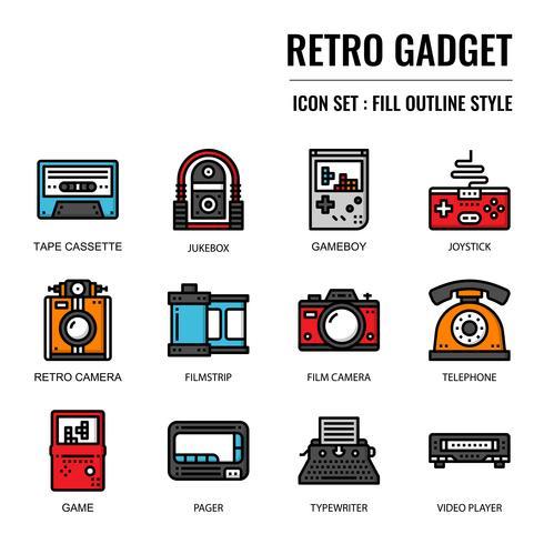 icono de gadget retro