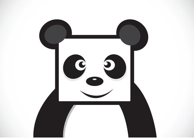 Personagem de desenho animado Panda