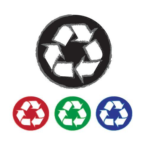 Símbolo de signo de reciclaje signo